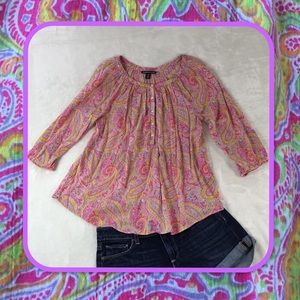 AMERICAN LIVING MULTICOLOR TOP M